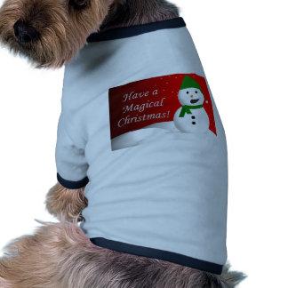 Muñeco de nieve mágico del navidad ropa para mascota
