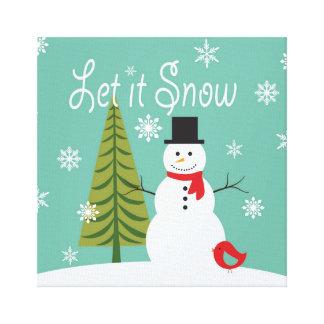 muñeco de nieve moderno del invierno de las impresion en lona