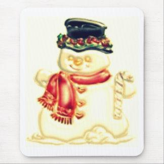 muñeco de nieve mousepads