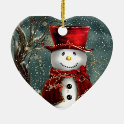 Muñeco de nieve ornamente de reyes
