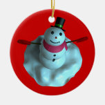 Muñeco de nieve ornamentos de reyes magos