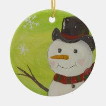 Muñeco de nieve ornato