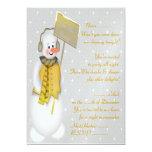 Muñeco de nieve (oro) - invitación