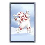 Muñeco de nieve patinador inmóvil papeleria