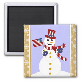 Muñeco de nieve patriótico de los E E U U con el