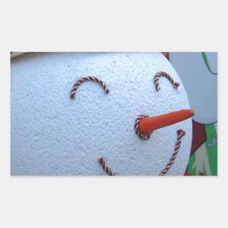 Muñeco de nieve rectangular pegatinas