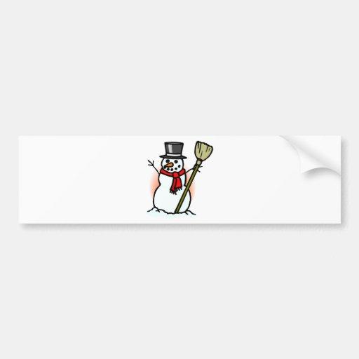 Muñeco de nieve pegatina de parachoque