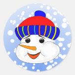 Muñeco de nieve pegatinas