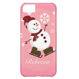 Muñeco de nieve personalizado lindo de Navidad Funda Para iPhone 5C