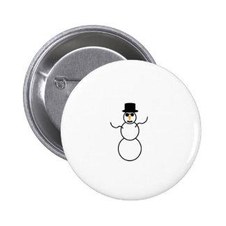 Muñeco de nieve pin redondo 5 cm