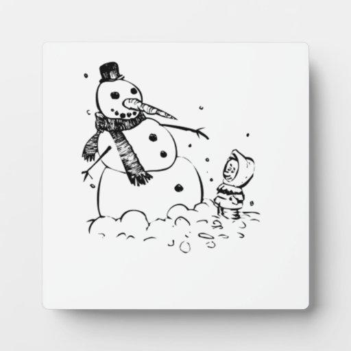 Muñeco de nieve placas