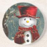 Muñeco de nieve posavasos personalizados