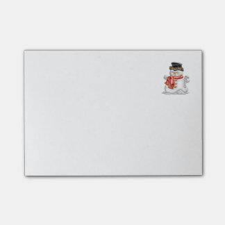 Muñeco de nieve post-it® nota