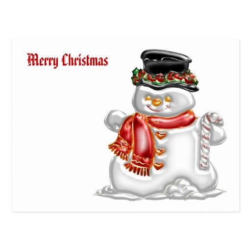 Muñeco de nieve postal