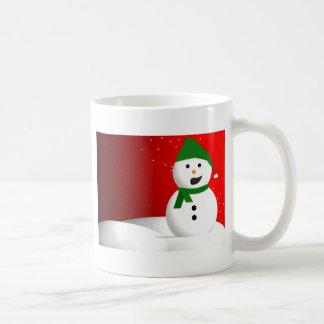 Muñeco de nieve que habla taza de café