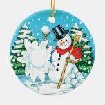 ¡Muñeco de nieve que lanza una diversión Splat del Ornamento Para Arbol De Navidad