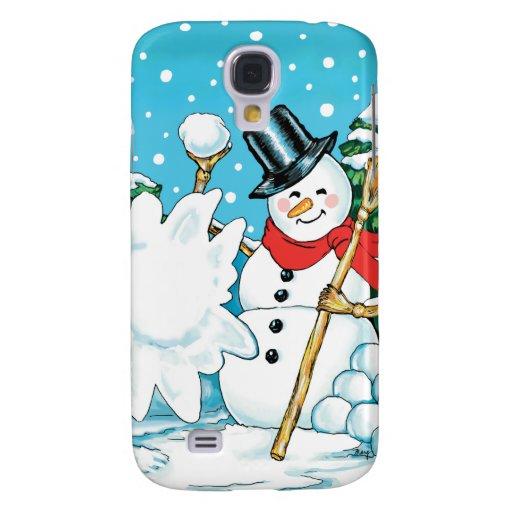 ¡Muñeco de nieve que lanza una diversión Splat del Funda Para Galaxy S4