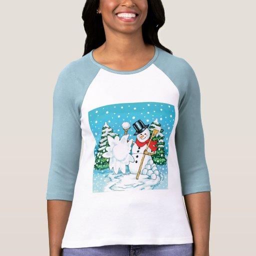 ¡Muñeco de nieve que lanza una diversión Splat del Camiseta