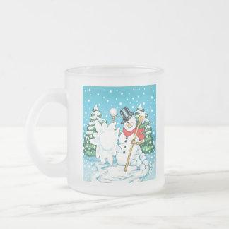 ¡Muñeco de nieve que lanza una diversión Splat del Taza