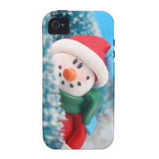 Muñeco de nieve que oculta o que mira a escondidas iPhone 4 funda