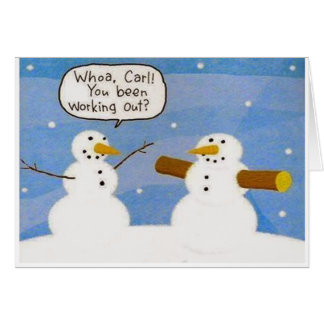 Muñeco de nieve que resuelve la tarjeta de