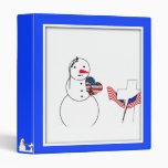 Muñeco de nieve que saluda con el corazón de la ba