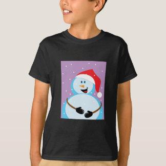 Muñeco de nieve redondo remera