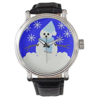 Muñeco de nieve relojes de pulsera