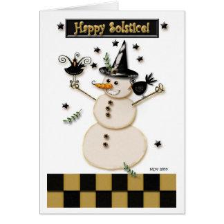 Muñeco de nieve remilgado pagano y cuervos de risa felicitaciones