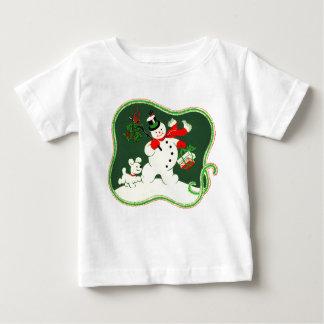 Muñeco de nieve retro t shirt