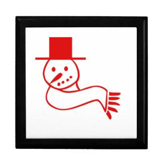 Muñeco de nieve rojo del navidad caja de regalo