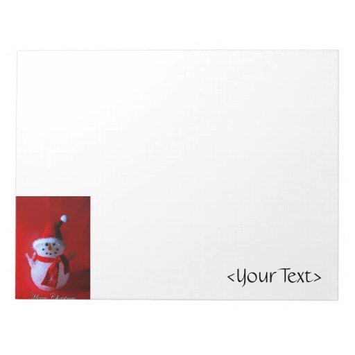 Muñeco de nieve rojo del signo de la paz (Felices  Bloc De Notas