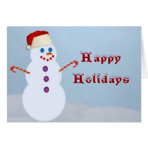 Muñeco de nieve Santa, Tarjeta De Felicitación