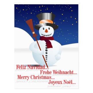 Muñeco de nieve, Snowman/for Christmas/X-mas Postales