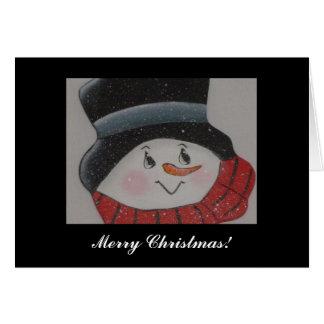 Muñeco de nieve sonriente