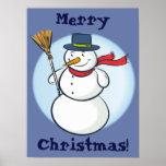 ¡Muñeco de nieve sonriente lindo del navidad! (Per Posters