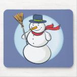 ¡Muñeco de nieve sonriente lindo del navidad! (Per Tapete De Raton