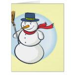¡Muñeco de nieve sonriente lindo del navidad! Tarjeta De Felicitación Grande
