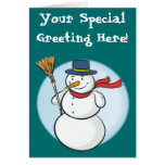 ¡Muñeco de nieve sonriente lindo del navidad! Tarjeta De Felicitación