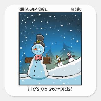 Muñeco de nieve Steriods Colcomanias Cuadradases
