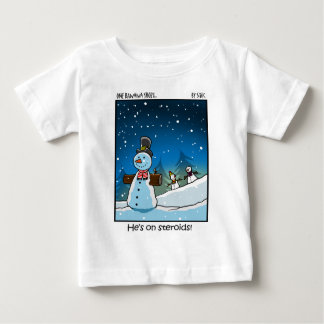 Muñeco de nieve Steriods Playera