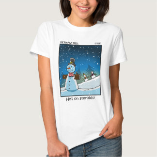 Muñeco de nieve Steriods Remera