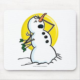 Muñeco de nieve tapete de ratones