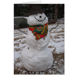 muñeco de nieve felicitaciones