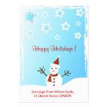 Muñeco de nieve - tarjeta de etiqueta del regalo tarjetas de visita grandes