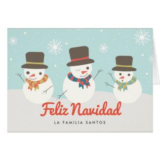 Muñeco de Nieve Tarjeta de Navidad Card