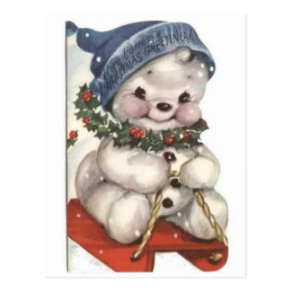 Muñeco de nieve postales