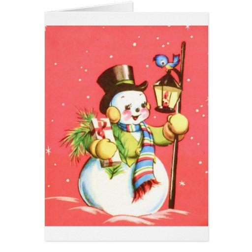 Muñeco de nieve tarjetas