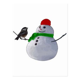Muñeco de nieve tarjetas postales