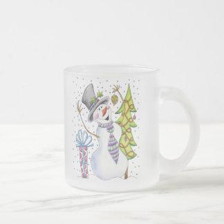 Muñeco de nieve taza